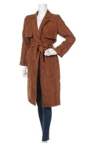 Дамско палто Pretty Little Thing, Размер S, Цвят Кафяв, Полиестер, Цена 44,10лв.