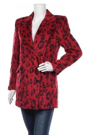 Дамско палто Primark, Размер M, Цвят Червен, 64% полиестер, 19% акрил, 5% вискоза, 4% полиамид, 4% вълна, 4% памук, Цена 67,20лв.