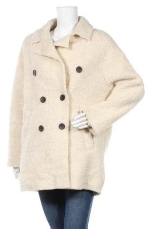 Дамско палто Stradivarius, Размер M, Цвят Екрю, Полиестер, Цена 47,04лв.