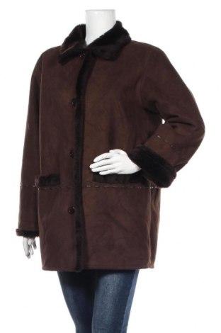 Дамско палто, Размер M, Цвят Кафяв, Полиестер, Цена 13,52лв.