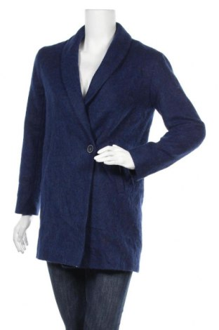 Дамско палто Trench and Coat, Размер XS, Цвят Син, 29% акрил, 23% вълна, 22% полиестер, 15% вълна от алпака, 9% полиамид, 2% памук, Цена 46,41лв.