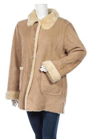 Дамско палто Vunic, Размер L, Цвят Бежов, 100% полиестер, Цена 21,42лв.