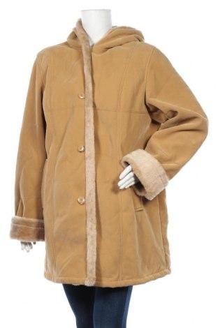 Дамско палто W.O.B. World Of Basics, Размер XL, Цвят Бежов, 80% полиестер, 20% полиамид, Цена 14,49лв.