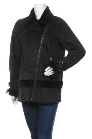 Дамско палто Y.A.S, Размер L, Цвят Черен, Полиестер, Цена 51,87лв.