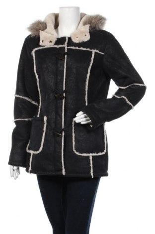 Дамско палто Yessica, Размер M, Цвят Черен, Полиестер, Цена 23,52лв.