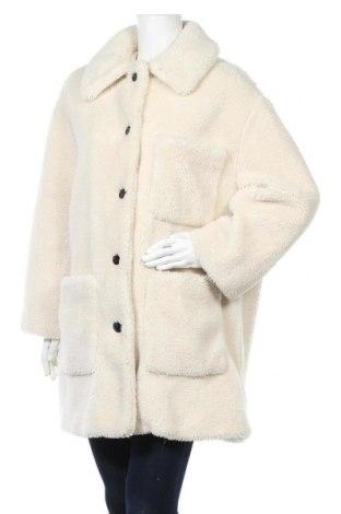 Γυναικείο παλτό Zara, Μέγεθος L, Χρώμα Λευκό, Πολυεστέρας, Τιμή 55,30€
