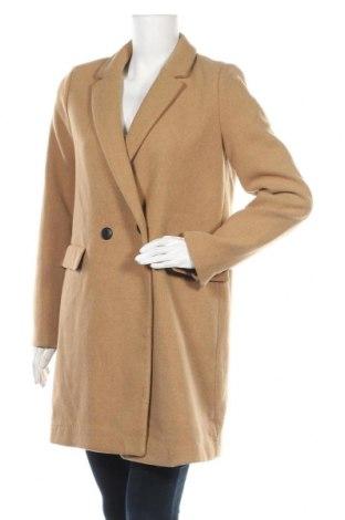 Дамско палто Zara Trafaluc, Размер M, Цвят Кафяв, 66% полиестер, 22% вълна, 8% акрил, Цена 61,50лв.