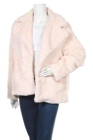 Дамско палто Zebra, Размер L, Цвят Розов, Полиестер, Цена 45,57лв.