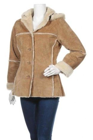 Дамско палто от естествен велур Kenvelo, Размер M, Цвят Бежов, Естествен велур, Цена 62,48лв.