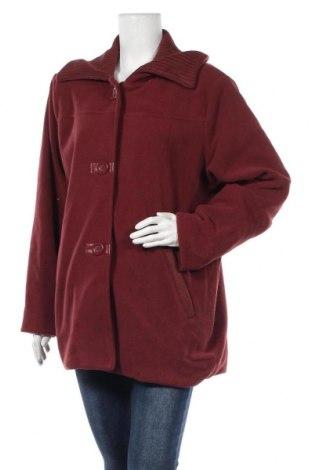 Дамско поларено палто, Размер XXL, Цвят Червен, Полиестер, Цена 20,32лв.