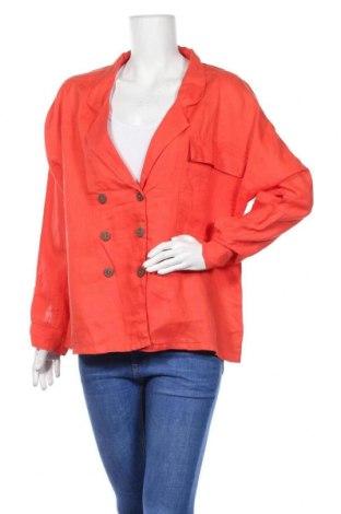 Дамско сако, Размер L, Цвят Червен, Лен, Цена 18,48лв.