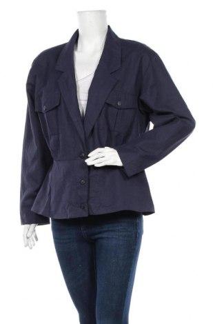 Дамско сако Choise, Размер L, Цвят Син, 45% полиестер, 30% лен, 25% памук, Цена 5,67лв.