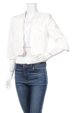 Дамско сако Comma,, Размер M, Цвят Бял, 57% памук, 40% полиестер, 3% еластан, Цена 75,62лв.