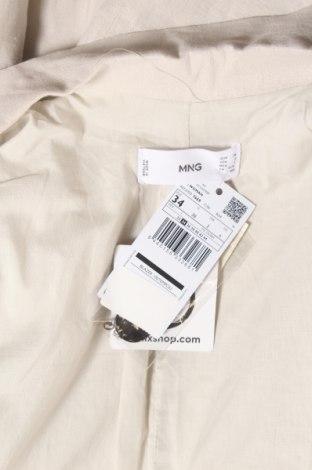 Дамско сако Mango, Размер XS, Цвят Бежов, 55% лен, 45% вискоза, Цена 71,76лв.