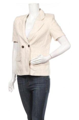 Дамско сако Mango, Размер XS, Цвят Бежов, 100% лен, Цена 71,76лв.