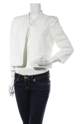 Дамско сако Mbym, Размер L, Цвят Бял, 83% полиестер, 13% вискоза, 4% еластан, Цена 54,00лв.