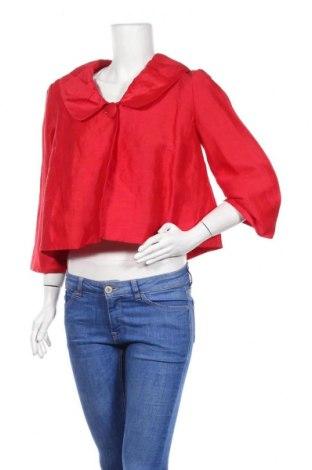 Дамско сако Monsoon, Размер L, Цвят Червен, 80% лен, 20% коприна, Цена 46,00лв.