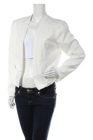 Дамско сако ONLY, Размер L, Цвят Бял, 63% полиестер, 33% вискоза, 4% еластан, Цена 25,08лв.