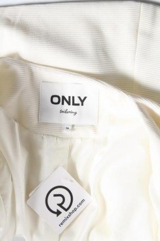 Дамско сако ONLY, Размер S, Цвят Бял, 97% полиестер, 3% еластан, Цена 20,80лв.