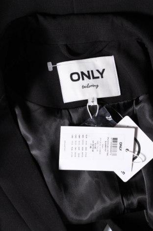 Дамско сако ONLY, Размер L, Цвят Черен, 72% полиестер, 23% вискоза, 5% еластан, Цена 18,48лв.