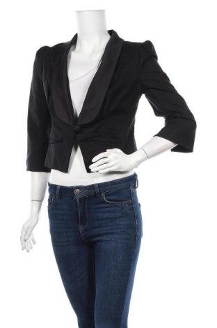 Дамско сако Review, Размер M, Цвят Черен, 52% памук, 46% полиамид, Цена 7,35лв.