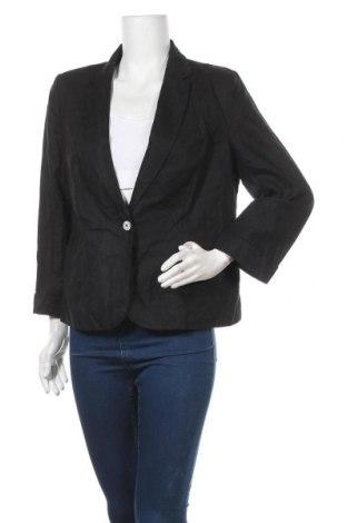 Дамско сако Sussan, Размер L, Цвят Черен, 48% лен, 52% памук, Цена 6,83лв.