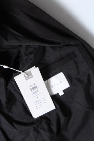 Дамско сако Vila, Размер M, Цвят Черен, 63% полиестер, 33% вискоза, 4% еластан, Цена 54,00лв.