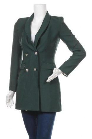 Γυναικείο σακάκι Zara, Μέγεθος XS, Χρώμα Πράσινο, 95% πολυεστέρας, 5% ελαστάνη, Τιμή 31,18€