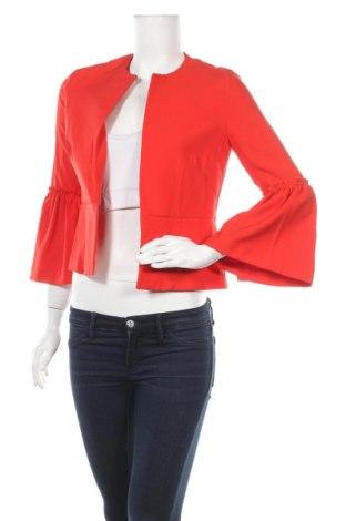 Дамско сако Zara, Размер S, Цвят Червен, 95% полиестер, 5% еластан, Цена 27,41лв.