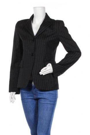Дамско сако Zara, Размер M, Цвят Черен, 53% вълна, 46% вискоза, 1% еластан, Цена 9,00лв.