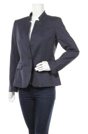 Дамско сако Zara, Размер L, Цвят Син, 69% полиестер, 29% вискоза, 2% еластан, Цена 39,90лв.