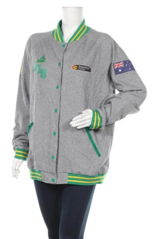 Дамско спортно яке, Размер L, Цвят Сив, 78% памук, 22% полиестер, Цена 37,80лв.