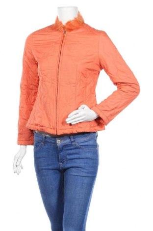 Дамско яке, Размер S, Цвят Оранжев, Текстил, естествен косъм, Цена 12,29лв.