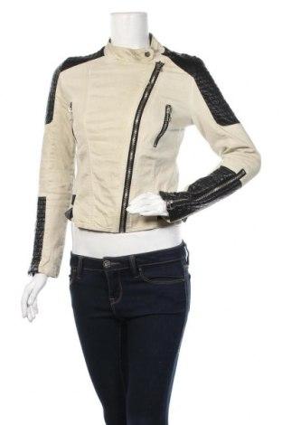 Дамско яке, Размер M, Цвят Бежов, Памук, еко кожа, Цена 17,01лв.