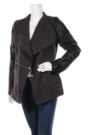 Дамско яке Caroline K Morgan, Размер XL, Цвят Черен, 50% акрил, 50% полиестер, еко кожа, Цена 41,90лв.
