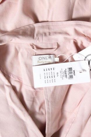 Дамско яке ONLY, Размер L, Цвят Розов, 90% вискоза, 10% полиестер, Цена 26,22лв.
