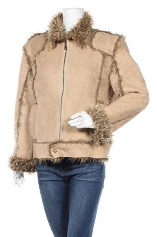 Дамско яке Zara, Размер L, Цвят Бежов, 66% акрил, 34% полиестер, Цена 19,11лв.