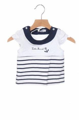 Παιδική μπλούζα Little Marcel, Μέγεθος 3-6m/ 62-68 εκ., Χρώμα Λευκό, 95% βαμβάκι, 5% ελαστάνη, Τιμή 9,29€