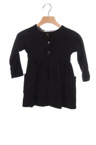 Παιδικό φόρεμα Zara Kids, Μέγεθος 18-24m/ 86-98 εκ., Χρώμα Μαύρο, Βαμβάκι, Τιμή 12,46€