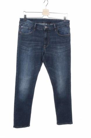 Dětské džíny  H&M, Velikost 13-14y/ 164-168 cm, Barva Modrá, 63% bavlna, 35% polyester, 2% elastan, Cena  204,00Kč