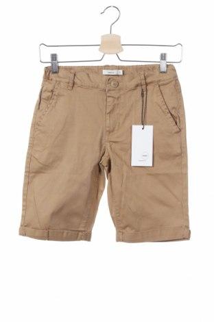 Παιδικό κοντό παντελόνι Name It, Μέγεθος 12-13y/ 158-164 εκ., Χρώμα Καφέ, 98% βαμβάκι, 2% ελαστάνη, Τιμή 10,77€
