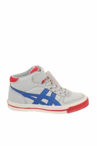 Παιδικά παπούτσια ASICS, Μέγεθος 27, Χρώμα Γκρί, Δερματίνη, Τιμή 36,65€