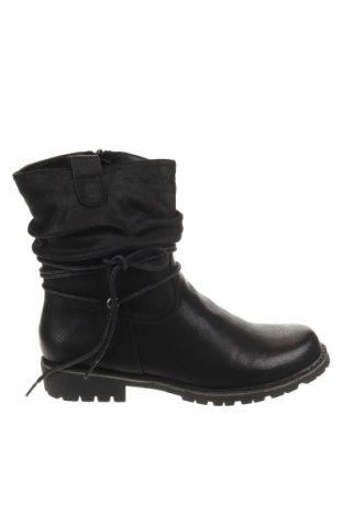 Παιδικά παπούτσια Bata, Μέγεθος 35, Χρώμα Μαύρο, Κλωστοϋφαντουργικά προϊόντα, δερματίνη, Τιμή 21,73€