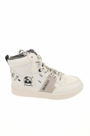 Παιδικά παπούτσια Bata, Μέγεθος 33, Χρώμα Λευκό, Κλωστοϋφαντουργικά προϊόντα, δερματίνη, φυσικό σουέτ, Τιμή 28,74€