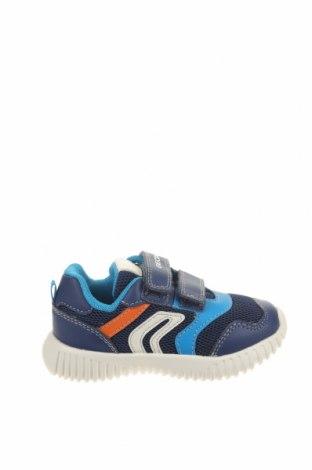 Παιδικά παπούτσια Geox, Μέγεθος 23, Χρώμα Μπλέ, Δερματίνη, κλωστοϋφαντουργικά προϊόντα, Τιμή 37,25€