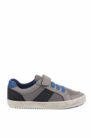 Παιδικά παπούτσια Geox, Μέγεθος 31, Χρώμα Γκρί, Δερματίνη, κλωστοϋφαντουργικά προϊόντα, Τιμή 38,27€