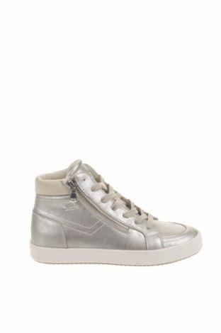Παιδικά παπούτσια Geox, Μέγεθος 35, Χρώμα Ασημί, Δερματίνη, Τιμή 46,01€