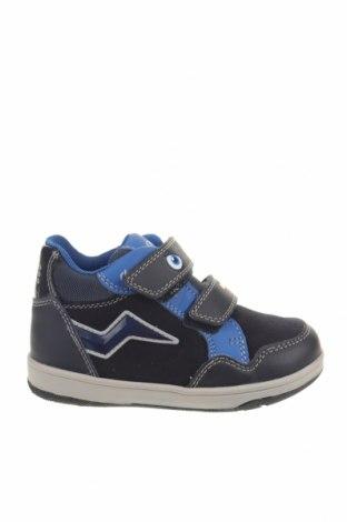 Παιδικά παπούτσια Geox, Μέγεθος 25, Χρώμα Μπλέ, Δερματίνη, κλωστοϋφαντουργικά προϊόντα, Τιμή 36,65€