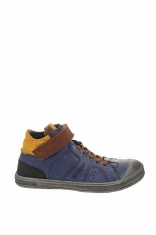 Παιδικά παπούτσια Kickers, Μέγεθος 35, Χρώμα Μπλέ, Γνήσιο δέρμα, Τιμή 20,13€