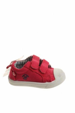 Παιδικά παπούτσια Okaidi, Μέγεθος 18, Χρώμα Κόκκινο, Κλωστοϋφαντουργικά προϊόντα, Τιμή 9,74€
